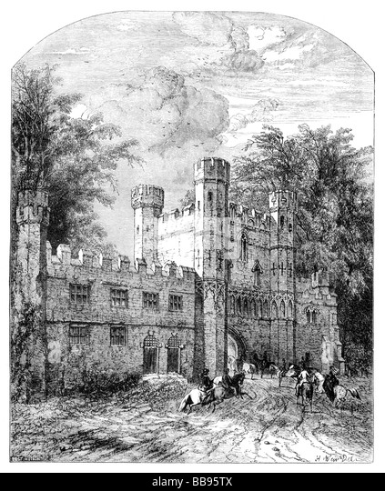 Illustration Battle Abbey as it may have appeared in the 19th Century - Stock-Bilder