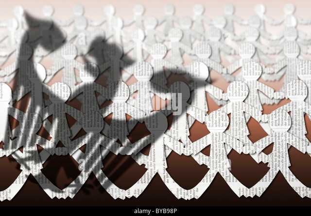 Resistance from the people against political decisions, symbolic image - Stock Image
