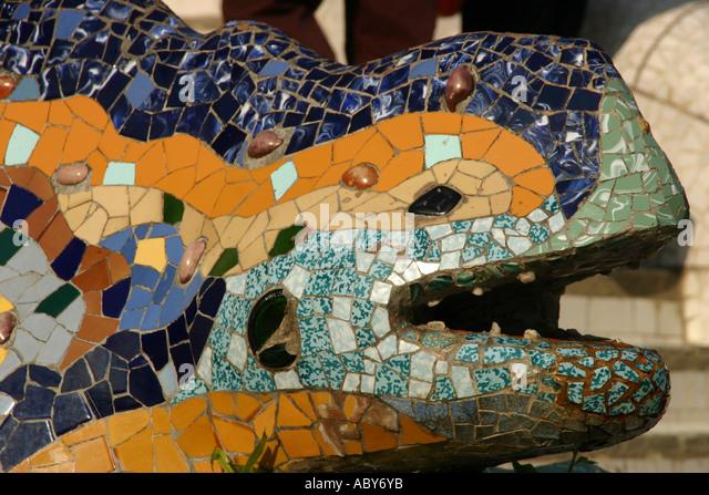 Gran dragon stock photos gran dragon stock images alamy for Barcelona jardin gaudi