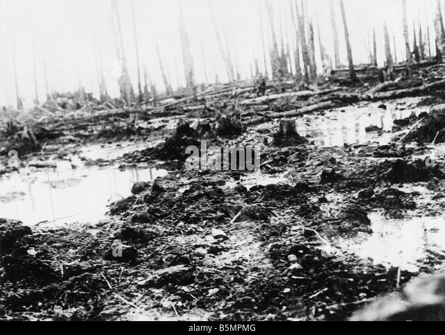 9 1916 3 18 A1 8 E Battle of Postawy 1916 Battlefield World War 1 Eastern Front Defeat of Russian troops after an - Stock-Bilder