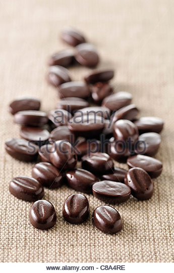 Chocolate coffee beans - Stock-Bilder