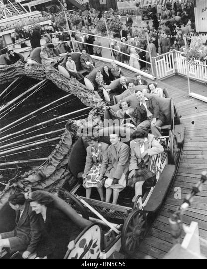 MARGATE FUNFAIR in 1951 - Stock Image