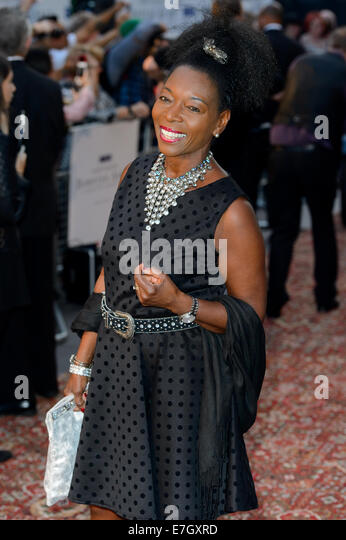 Floella Benjamin arrives for the Downton Abbey Charity Screening. - Stock Image