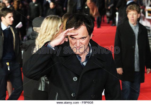 London, United Kingdom. December 10th, 2015. UK, London: Quentin Tarantino, Tim Roth and Kurt Russell graced the - Stock Image