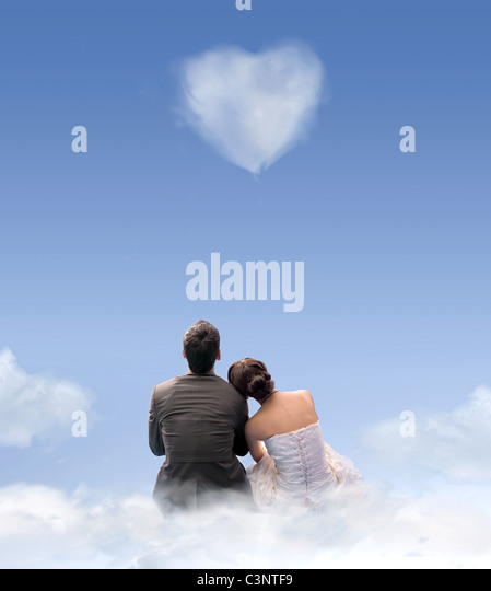 heart of cloud - Stock Image