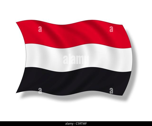 Illustration, Flag of Yemen - Stock Image