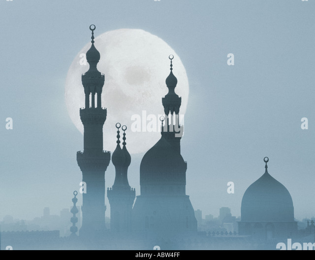 EG - CAIRO: Sultan Hassan Mosque at night - Stock Image