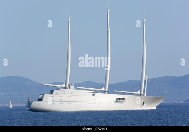 Ibiza. 22nd June, 2017. Andrie Melnichenko Views of the sailboat Sailing yacht A in Ibiza, on Thursday, June 22, - Stock-Bilder
