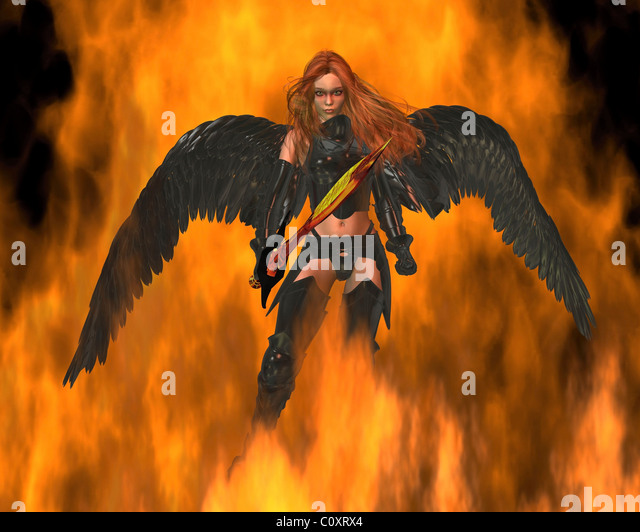 Angel of Fire - Stock Image
