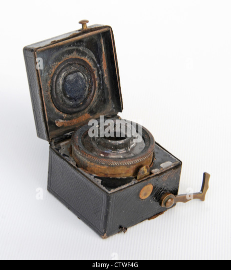 Antique inkwell ink pot traveling trenches - Stock-Bilder