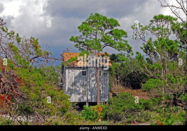 Florida St Joe Joseph Peninsula State Park rental cabin - Stock Image