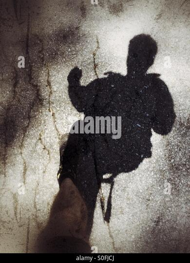 Running shadow. - Stock Image
