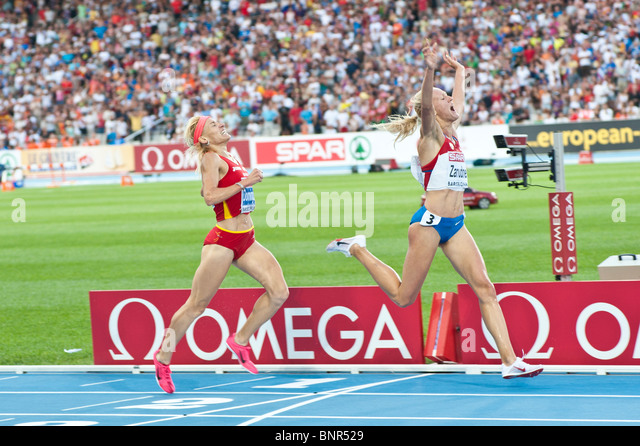 July 30th at the 2010 Barcelona European Athletics Championships - Stock Image