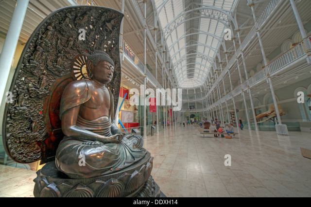 Buddha in Edinburgh, Scotland, UK - Stock Image