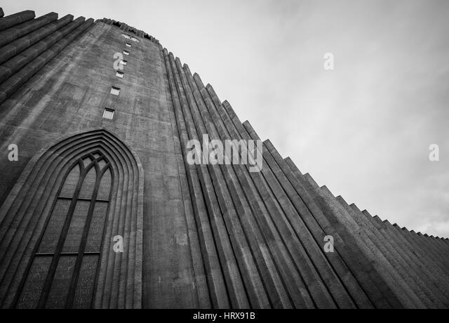 Reykjavik Lutheran church 436 - Stock Image