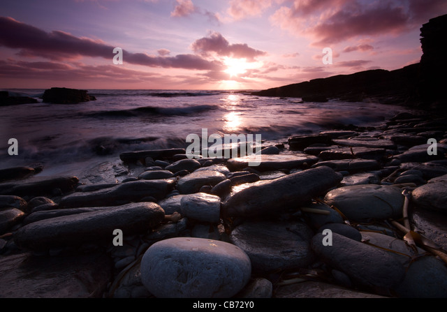 Orkney, Sandgeo sunset - Stock Image