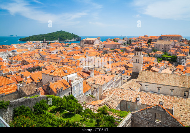 Roofs of Dubrovnik's Old Town - Stock-Bilder
