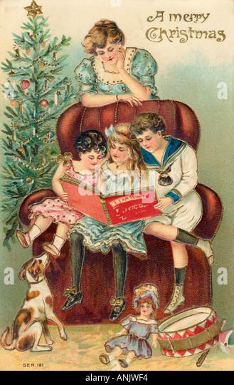 Enjoying Presents - Stock-Bilder