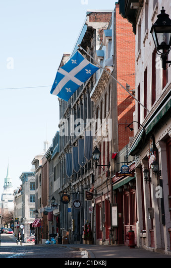 Saint Paul is Montreal's oldest street. (Quebec, Canada) - Stock Image