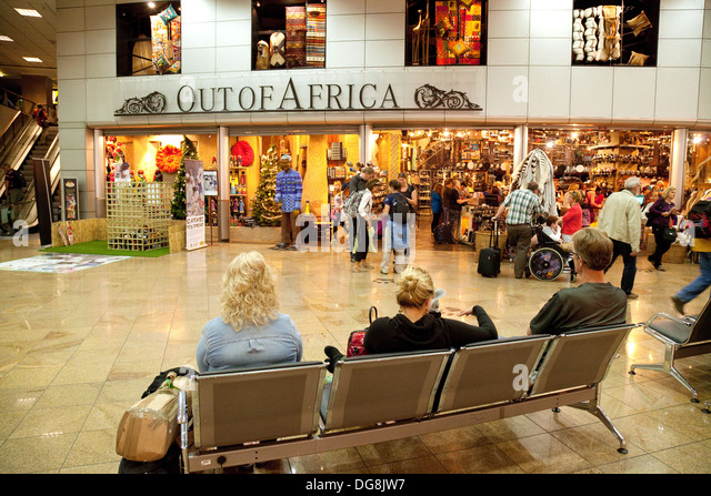 Johannesburg airport, departure lounge shops and duty free, Johannesburg South Africa - Stock Image
