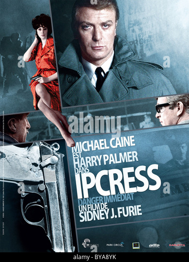 The Ipcress File  Year : 1965 UK Director : Sidney J. Furie Michael Caine Movie poster (Fr) - Stock Image