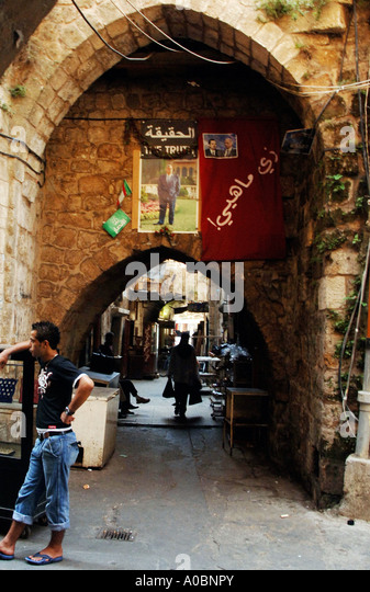 The historic market in the northern Lebanese town of Tripoli, Lebanon. - Stock Image