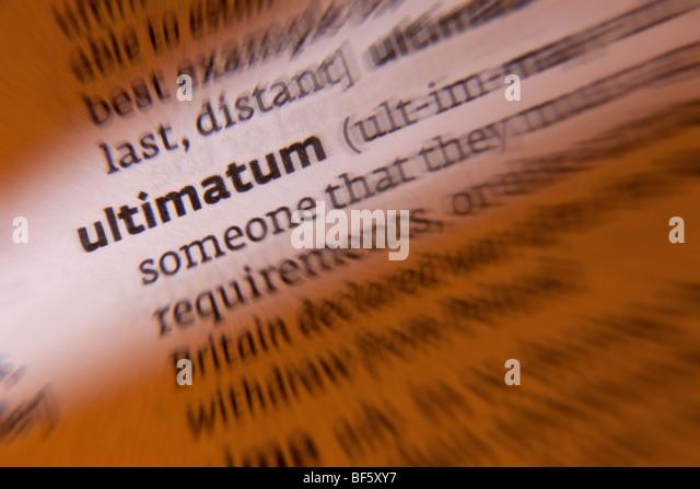 Ultimatum - Stock Image