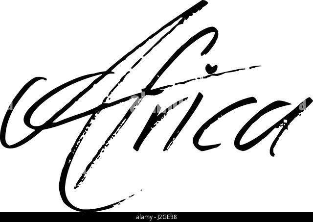 Arfrica Text Sign illustration on white Background - Stock Image