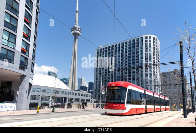 TORONTO - May17, 2016: The Toronto streetcar system comprises ten streetcar routes in Toronto, Ontario, Canada, - Stock Image