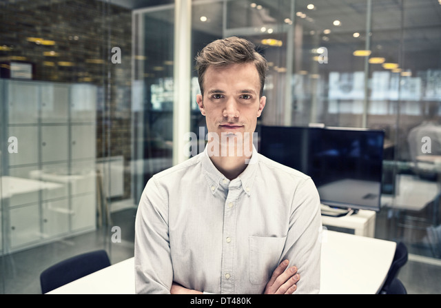 Business man black environment meeting room - Stock Image