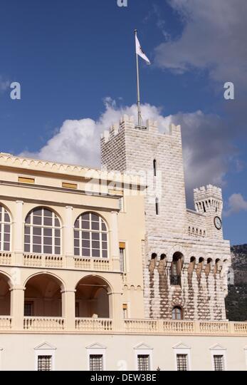 Grimaldi Palace, Monaco - Stock Image