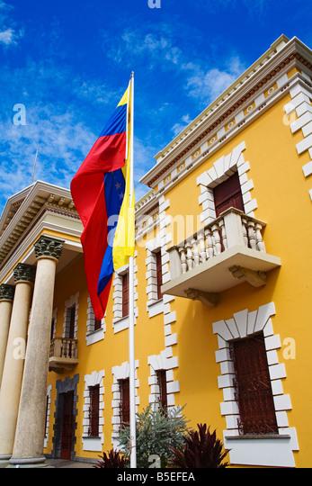 Municipal Palace, La Asuncion City, Isla Margarita, Nueva Esparta State, Venezuela, South America - Stock-Bilder
