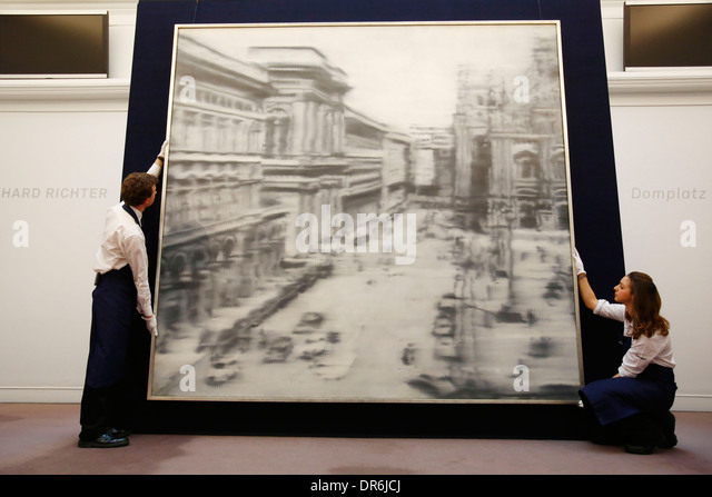 Sotheby's Impressionist, Modern & Contemporary sales at Sotheby's Bond Street in London Britain 12 April - Stock Image
