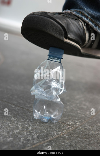 recycling, bottle, plastic, pollution, ecology - Stock Image