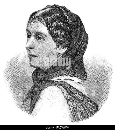 Elise Vogel Polko, 1823-1899, a German novelist, - Stock-Bilder