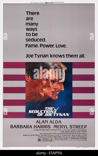 THE SEDUCTION OF JOE TYNAN, US poster, from left: Alan Alda, Barbara Harris, Meryl Streep, 1979, © Universal/courtesy - Stock Image