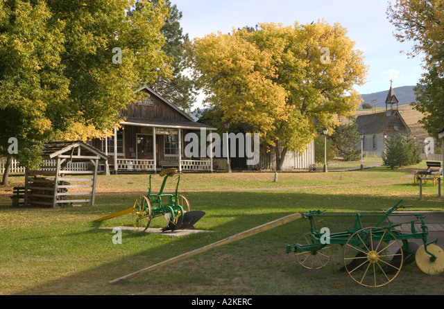 CANADA, British Columbia, VernonO'Keefe Historic Ranch Museum, BC Ranch / 1867, 1977 - Stock Image