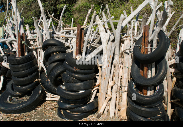 Beach tires stock photos beach tires stock images alamy for Uses for old tyres