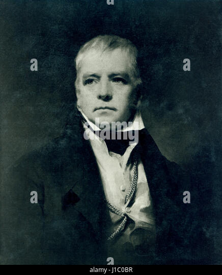 Sir Walter Scott (1771-1832), Scottish Historical Novelist, Playwright and Poet, Portrait, Painting by Sir Henry - Stock Image