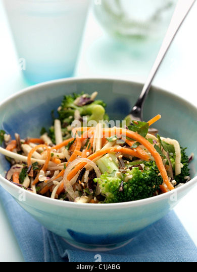 A bowl of vegetarian wild rice salad - Stock Image