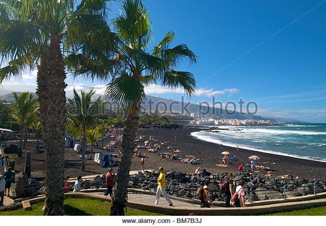 Puerto de la cruz stock photos puerto de la cruz stock - Playa jardin puerto de la cruz tenerife ...