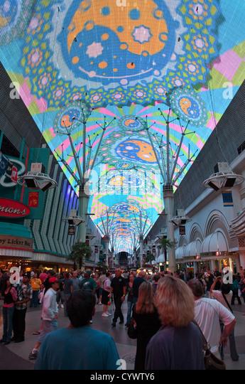 Fremont Street Experience, Las Vegas - Stock Image
