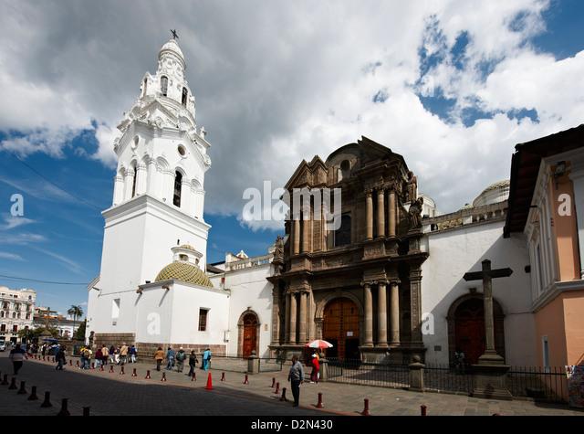 Iglesia El Sarario, historical center of Quito, Ecuador - Stock Image