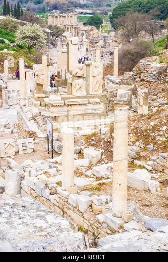 The Curetes Street in Ephesus, Selcuk, ?zmir Province, Aegean Region, Turkey - Stock-Bilder