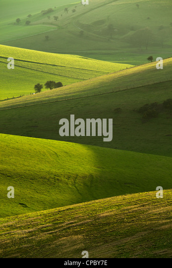 South Downs National Park in East Sussex, England. - Stock Image