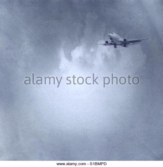 Airplane in the sky' - Stock Image