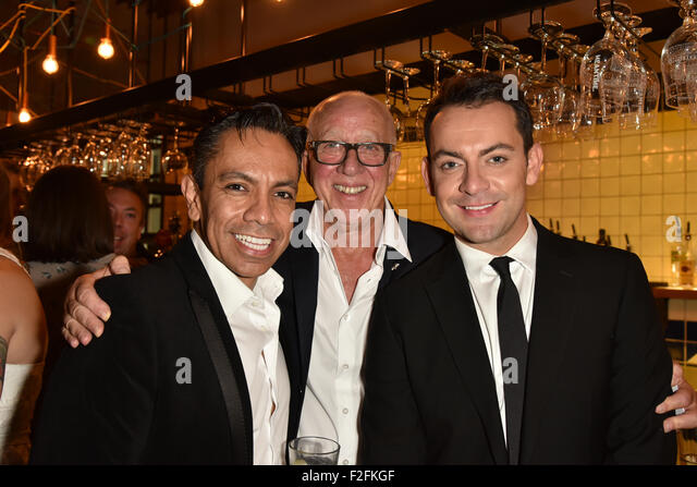 London,UK, 17th Sept 2015 : David Bedella (L) and Ben Forster (R) attends the Rocky Horror Show Gala Night After - Stock Image