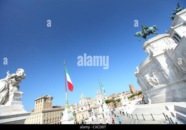 Italy, Rome, Capitoline Hill, Vittorio Emanuele II Monument, Emanuel, Viktor - Stock Image