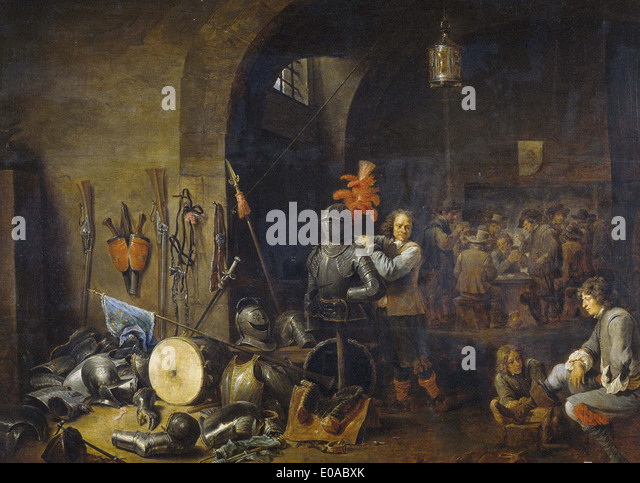 David Teniers The Bivouac - Stock Image