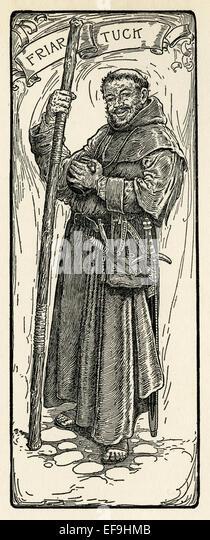 Friar Tuck - Stock Image